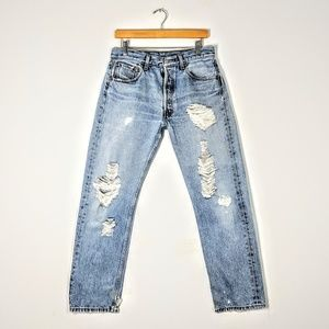 Custom Distressed Levi's 501 Vintage Jean